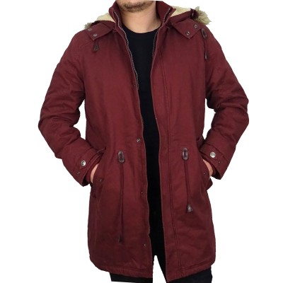 CAMARO JACKET LONG - DARK RED