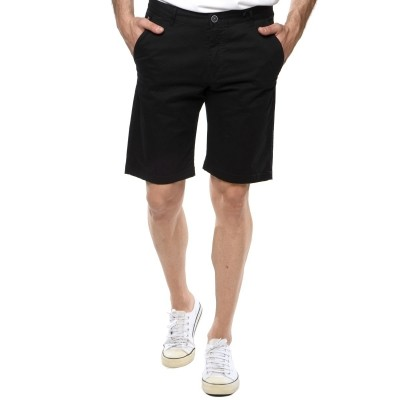 Camaro chino sweat shorts-BLACK