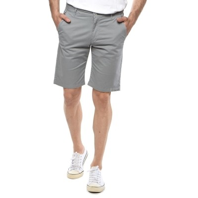 Camaro chino sweat shorts-GREY