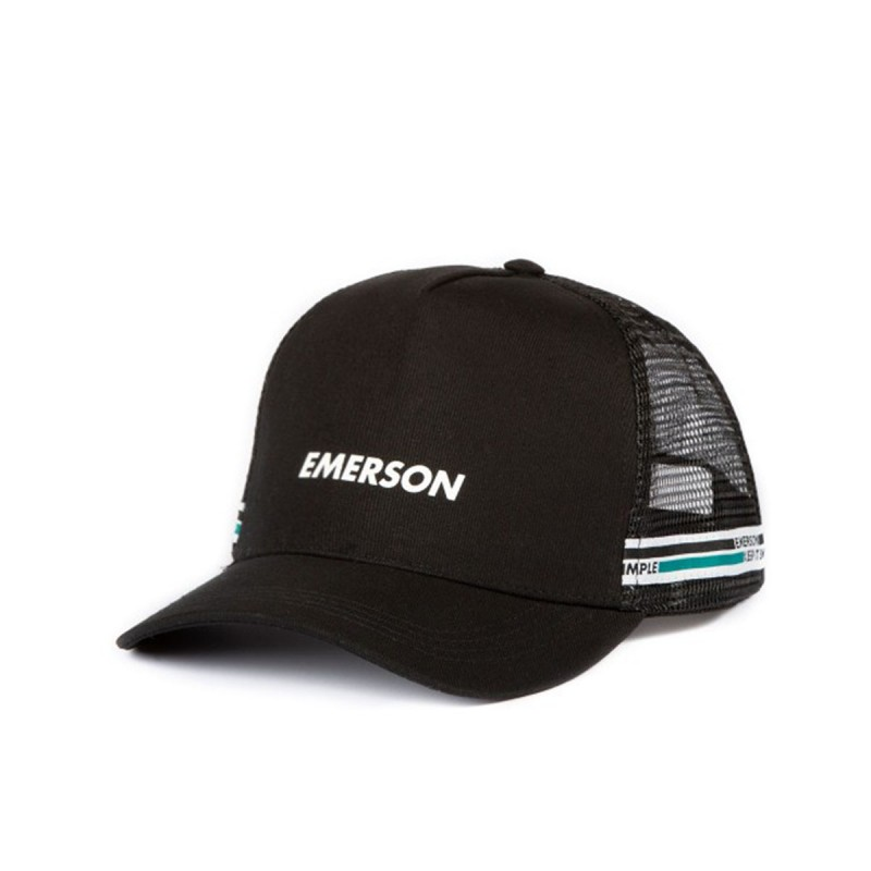 EMERSON TRUCKER CAP UNISEX - BLACK