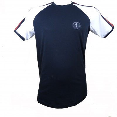Al franco t-shirt-black-white-red