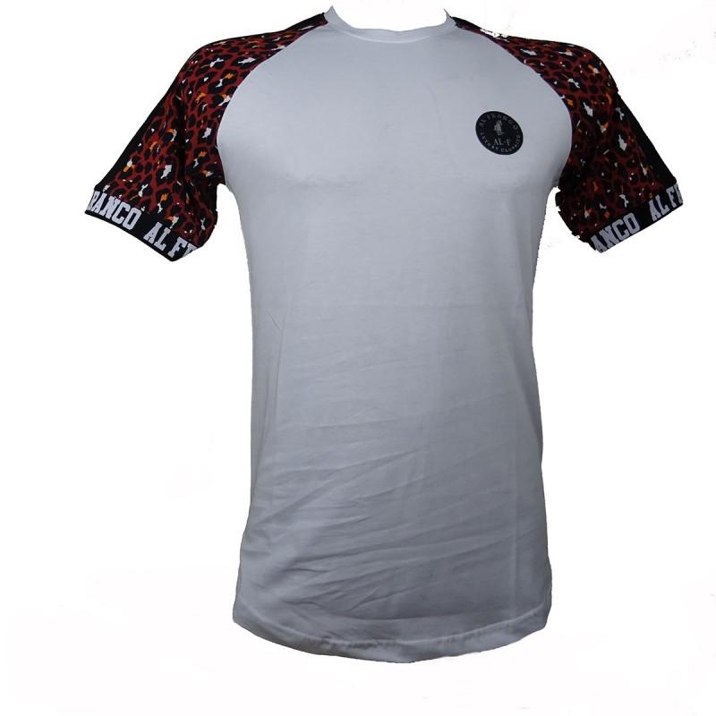 Al franco t-shirt- white-leopar