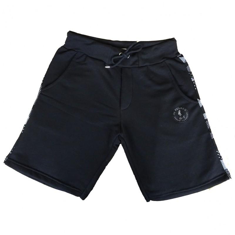 Al franco sweat shorts -black