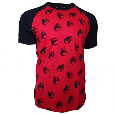 Al franco t-shirt-black- red-skulls