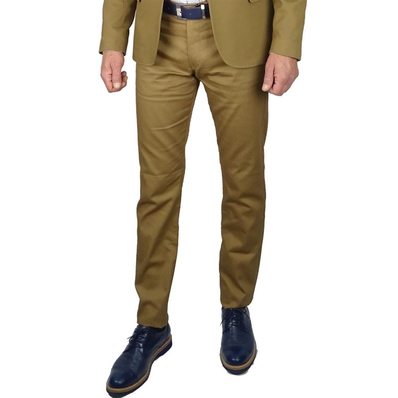 MAX COLLECTION ΠΑΝΤΕΛΟΝΙ SLIM FIT - CAMEL