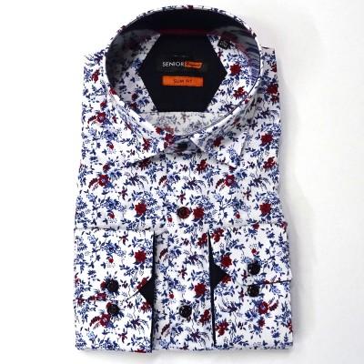 Senior πουκάμισο slim fit - White