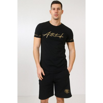 ATTITUDE T-SHIRT-BLACK\GOLD