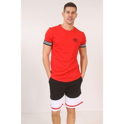ATTITUDE T-SHIRT-BLACK\RED/WHITE